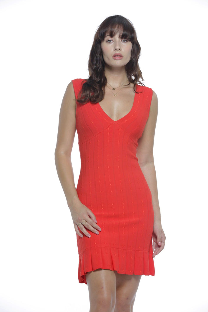 Valentina double V neck dress