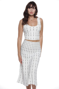 Patsy Dress Set in Off White - VIAVAI FASHION