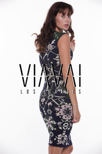 Erika Floral Jacquard Dress - VIAVAI FASHION