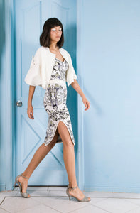 Anna Bird Jacquard Skirt in Off White - VIAVAI FASHION