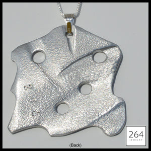 264 Jewelry #3, luxury one of a kind aluminum necklace and art
