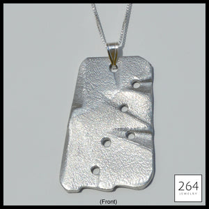 Luxury brand 264 Jewelry #8, one of a kind aluminum statement piece