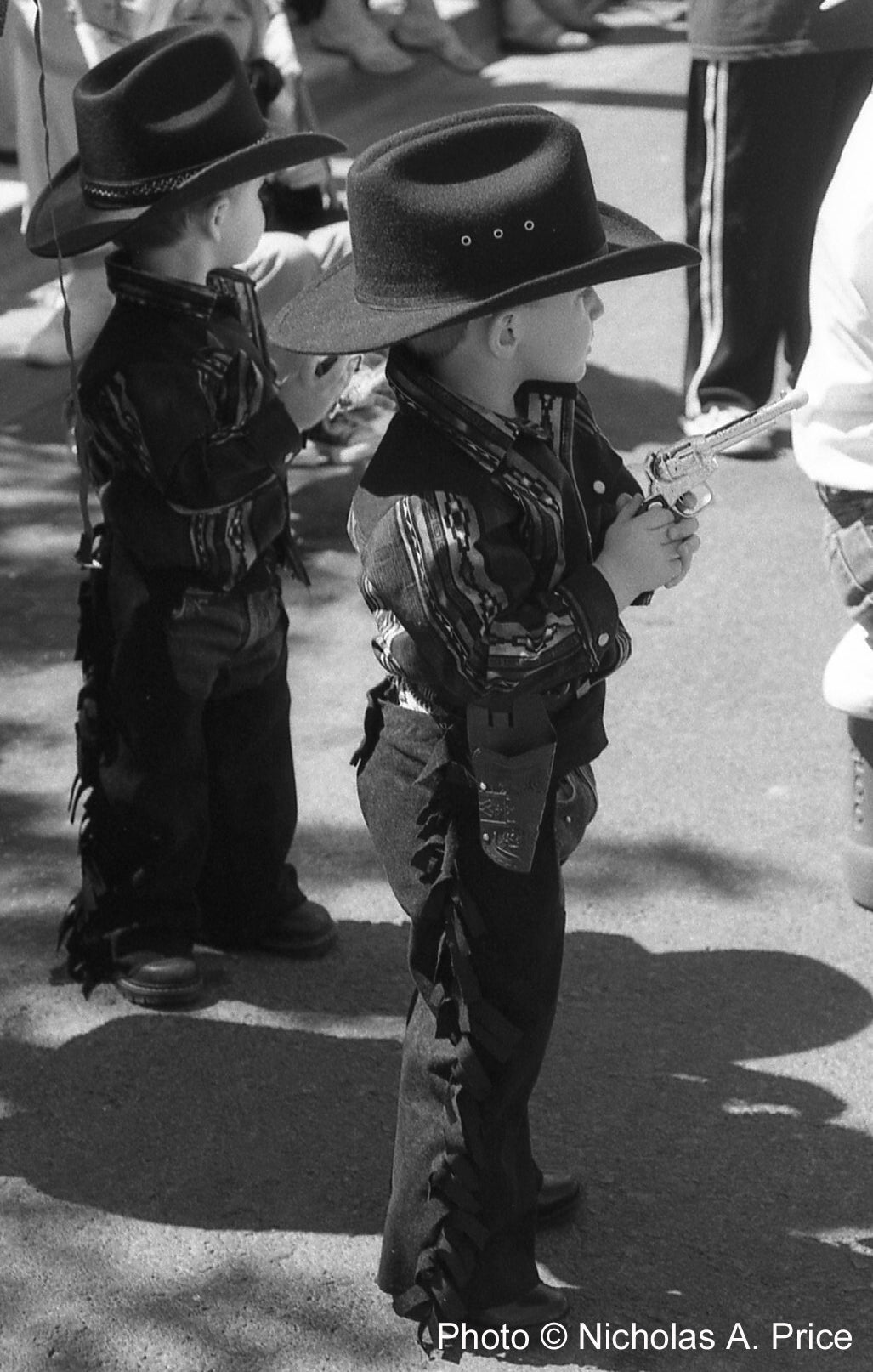 JUNIOR COWBOYS By Nicholas A. Price, 8 x 10 RC Glossy Print - Artnet Showcase