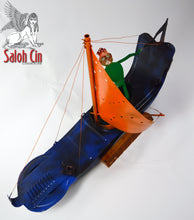 Load image into Gallery viewer, A Stiff Breeze - Sailing Boat Sculpture by Saloh Cin