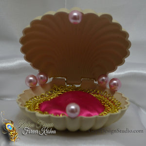 OOAK Seashell Bed for Radha Krishna Doll