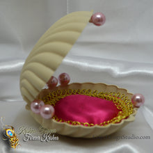 Load image into Gallery viewer, OOAK Seashell Bed for Radha Krishna Doll
