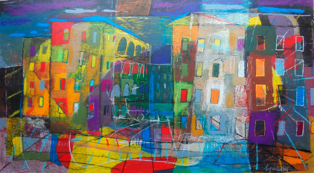 "Painting ""CAMPI ELISI (PRENESTINO)"" by Italian artist Sandro Cipolletti available exclusively from WorldwideArtDealers.com"