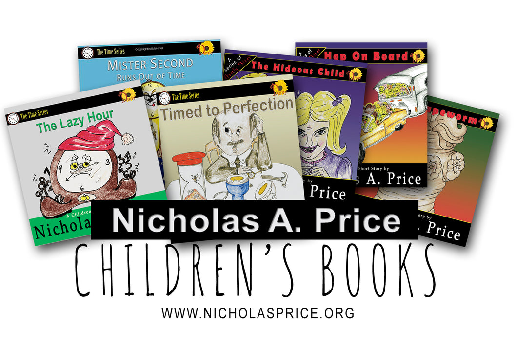 Nicholas Price Set of Childrens Books Signed by the Author