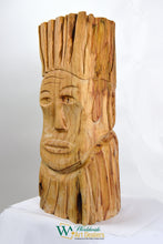"Load image into Gallery viewer, SOLD ""Defiance"" Sculpture by Nicholas A. Price from the Wood Spirits Collection"