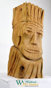 "SOLD ""Defiance"" Sculpture by Nicholas A. Price from the Wood Spirits Collection"