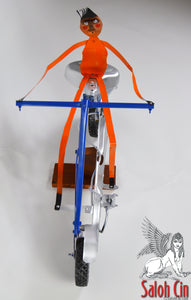 Easy Rider - Motor Bike Sculpture by Saloh Cin