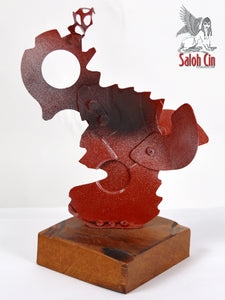 Falco - Abstract Table Top Sculpture by Saloh Cin