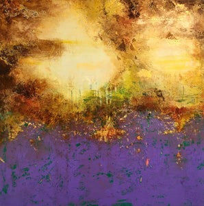 "Worldwide Art Dealer's Exclusively presents ""Golden Storm Year 2080"" a painting by Artist Viktoria A.Koestler"