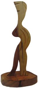 Nicholas Price hardwood cedar, people sculpture, African art