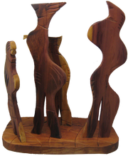 Load image into Gallery viewer, The Committee hardwood cedar sculpture by Nicholas Price