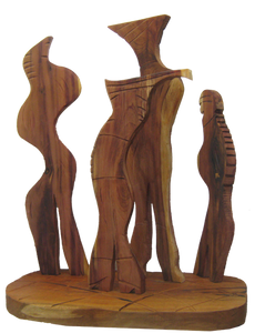 The Committee hardwood cedar sculpture by Nicholas Price