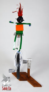 One Man Band - Unicycle Sculpture by Saloh Cin