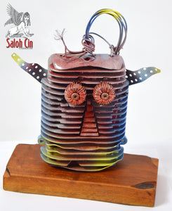 Overheated - Abstract Table Top Sculpture by Saloh Cin
