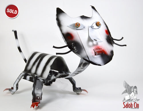SOLD Camellia The Cat - Sculpture by Saloh Cin