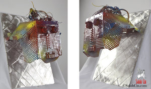 Mister Faraday - Robot Wall Sculpture by Saloh Cin (Right and Left Views)