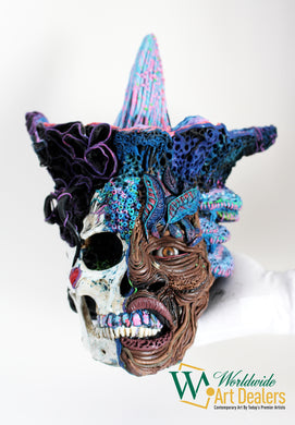 Zazi Maza Wangol (Voodoo Skull Sculpture) by Pierre Santos exclusively at WorldwideArtDealers.com
