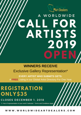 Worldwide Art Dealers Call For Artists 2019 | Gallery Representation | FREE basic listing in our gallery directory