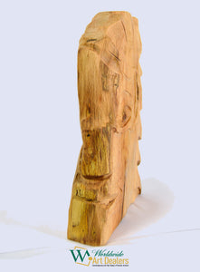 """The Guard"" Red Oak Sculpture by Nicholas A. Price from the Wood Spirits Collection"