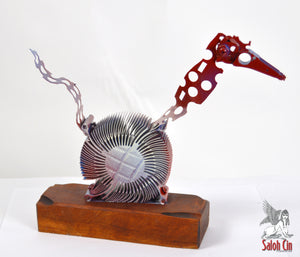 The Wound-Up Woodpecker- Abstract Sculpture by Saloh Cin