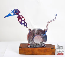 Load image into Gallery viewer, The Wound-Up Woodpecker- Abstract Sculpture by Saloh Cin