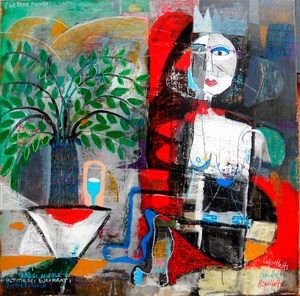 Painting L'ULTIMA PIANTA by Italian artist Sandro Cipolletti available exclusively from WorldwideArtDealers.com