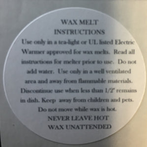 WAX MELT BURNING INSTRUCTION