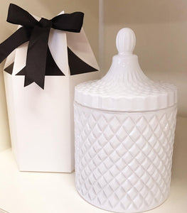 Gift Box - Hexagon Shape White & Black