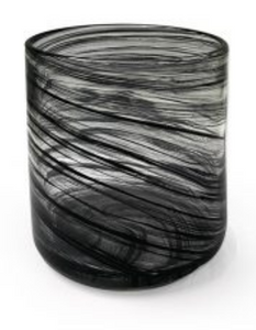 Large Vogue Jar – Black Swirl