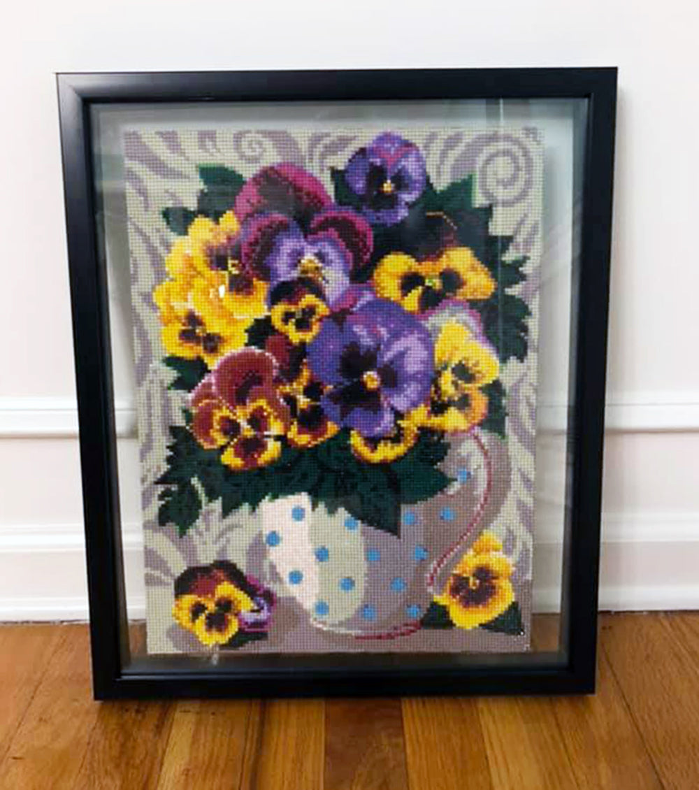 Purple and Yellow Pansies
