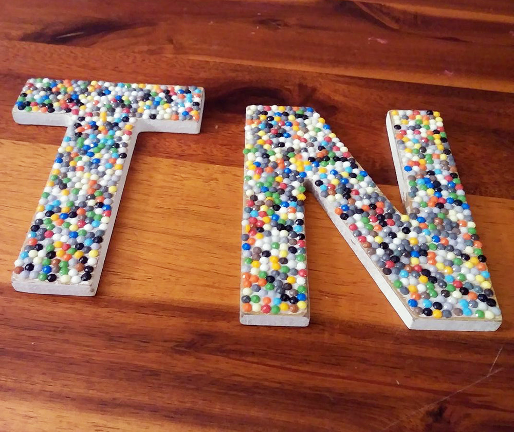 Wooden Letters with Gems