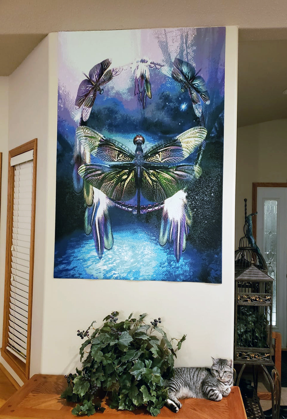 Butterfly Diamond Painting With Cat