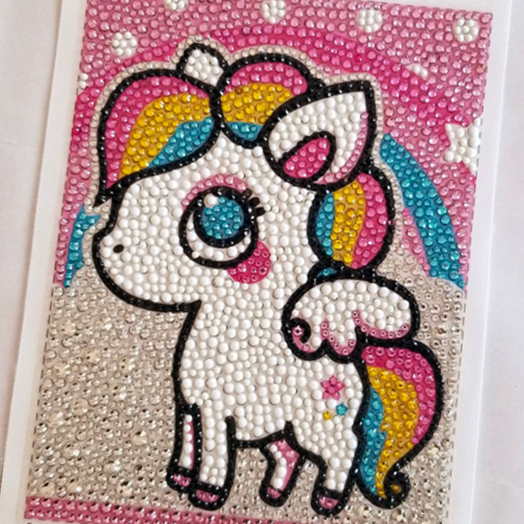 Picture Of A Finished Unicorn Diamond Painting