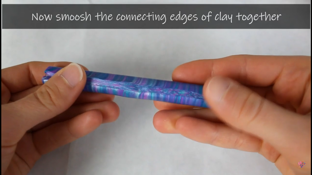 wrapping polymer clay around diamond painting pen