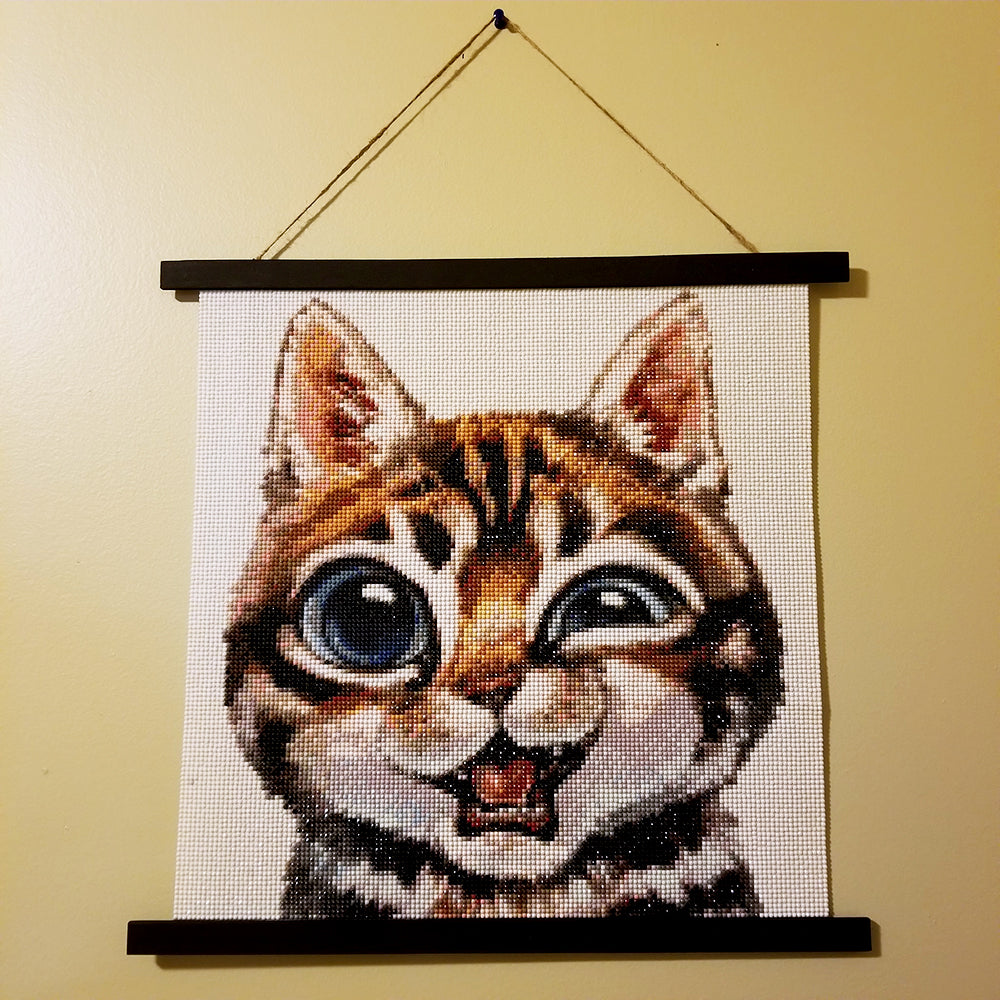 Funny Cat Diamond Painting With Creative Hanger