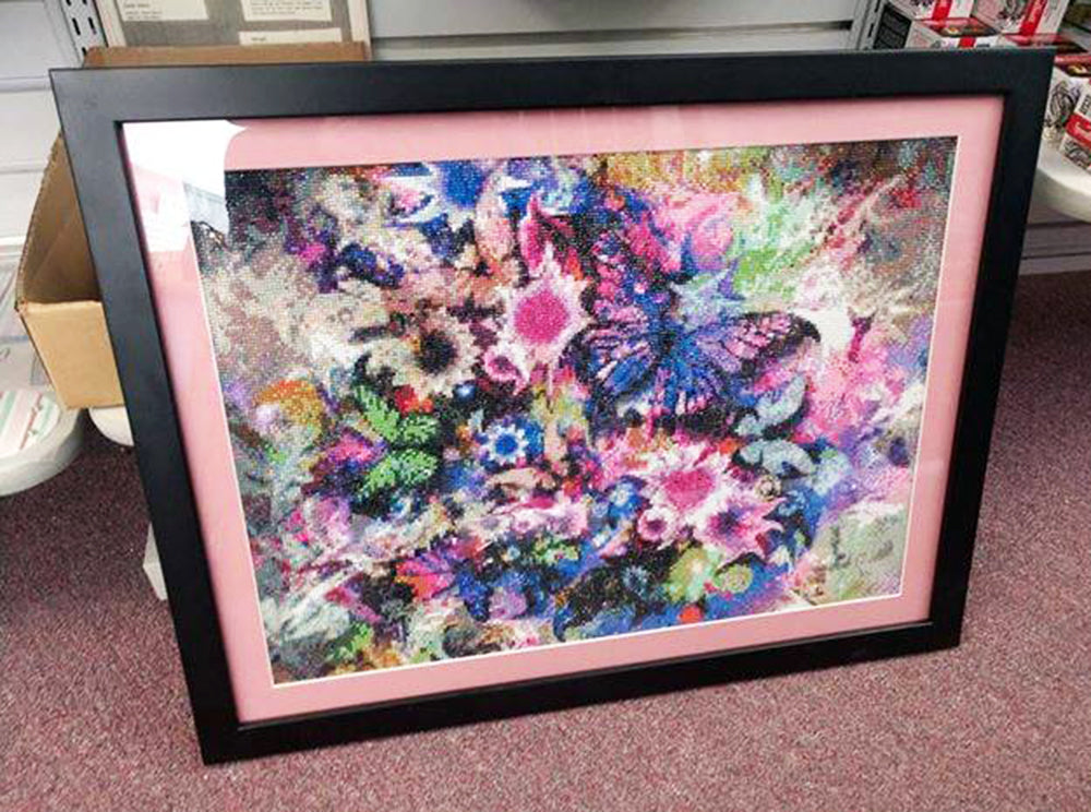 Colorful Butterfly and Flowers Diamond Painting