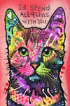 Quote Diamond Painting Kit - 9 Lives-Square 20x30cm- - Paint With Diamonds