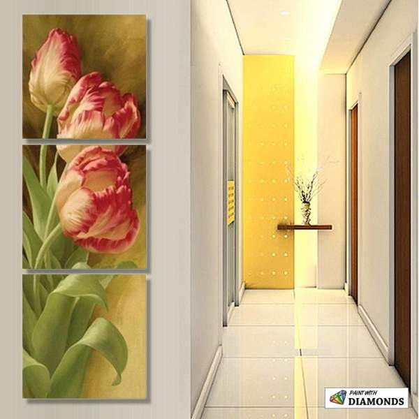 Gorgeous Flower - 3 Panels