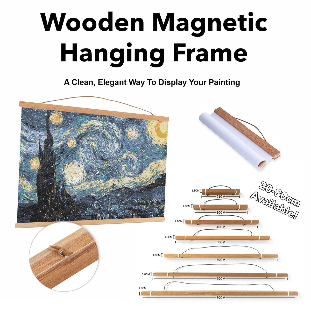 Wooden Magnetic Hanging Frame