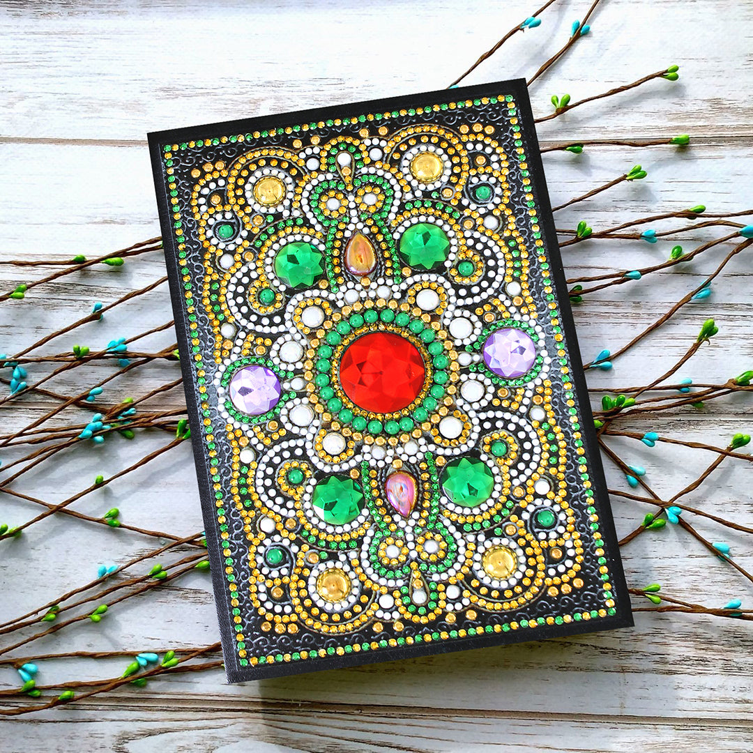 Emerald Mandala Diamond Painting Journal