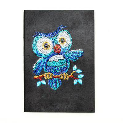 Blue Owl Diamond Painting Journal