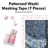 Patterned Washi Masking Tape (7-Piece Kit)