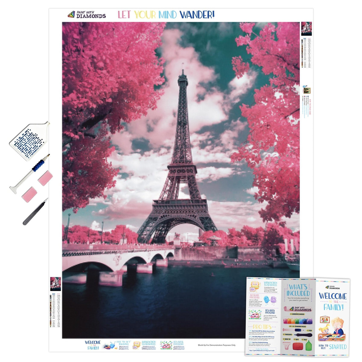 Pink Parisian Trees - Ships From US