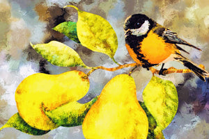Sparrow Among Pears