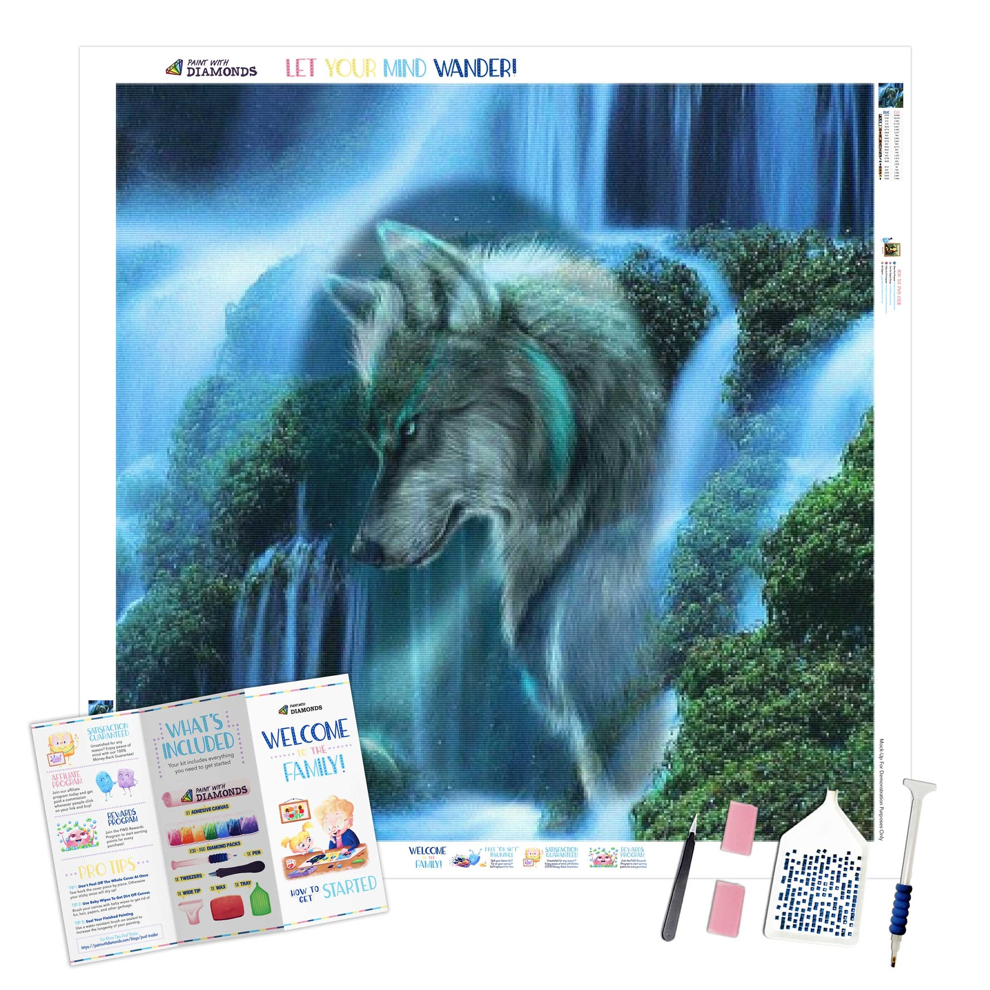 Wolf In The Waterfall