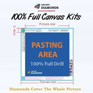 Safari Diamond Painting Kit - Above It All-Square 15x20cm- - Paint With Diamonds